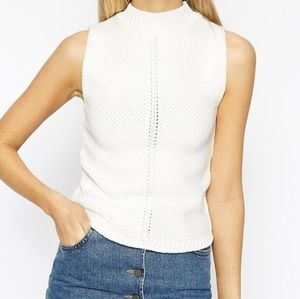 ASOS Turtleneck Sleeveless Knit Top